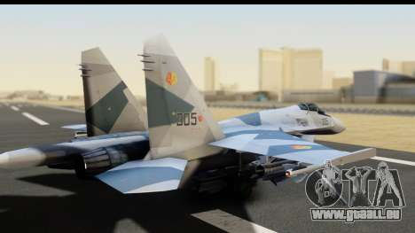 SU-35BM Yuktobanian Air Force für GTA San Andreas linke Ansicht