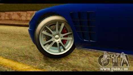 GTA 5 Ocelot F620 pour GTA San Andreas sur la vue arrière gauche