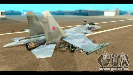SU-37 Terminator Russian AF Camo pour GTA San Andreas laissé vue