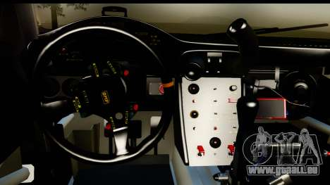 Porsche 911 GT3 RSR 2007 Flying Lizard pour GTA San Andreas vue intérieure