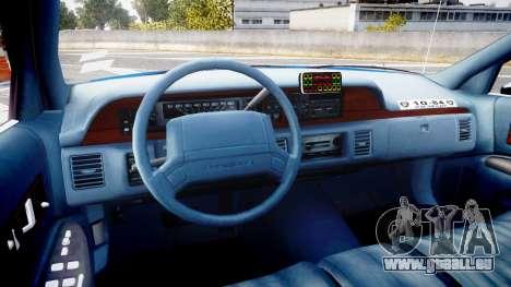 Chevrolet Caprice 1993 LCPD Without Hubcabs ELS für GTA 4 Rückansicht