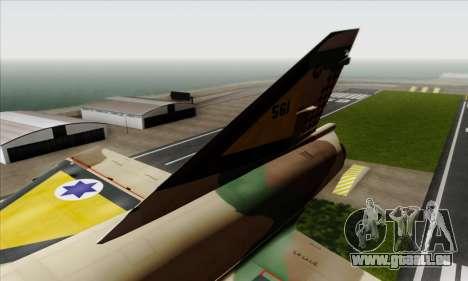 Dassault Mirage III AFI pour GTA San Andreas sur la vue arrière gauche