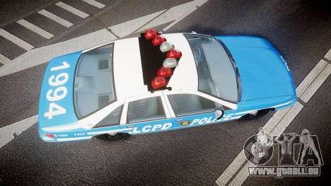 Chevrolet Caprice 1994 LCPD Patrol [ELS] für GTA 4 rechte Ansicht