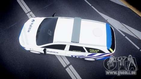 Ford Fusion Estate Belgian Police [ELS] Dog Unit für GTA 4 rechte Ansicht