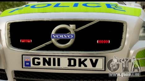 Volvo V70 Kent Police pour GTA San Andreas sur la vue arrière gauche