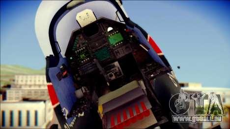Dassault Mirage 2000-10 Black für GTA San Andreas Rückansicht