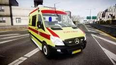 Mercedes-Benz Sprinter 311 cdi Belgian Ambulance für GTA 4