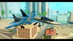 SU-34 Fullback Russian Air Force Camo Blue für GTA San Andreas
