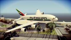 Airbus A380-800 Fly Emirates Airline pour GTA San Andreas