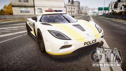 Koenigsegg Agera 2013 Police [EPM] v1.1 PJ1 pour GTA 4