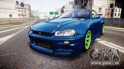 Nissan Skyline BNR34 GT-R V-SPECII 2002 pour GTA 4