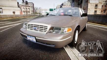 Ford Crown Victoria NYPD Unmarked [ELS] Old für GTA 4