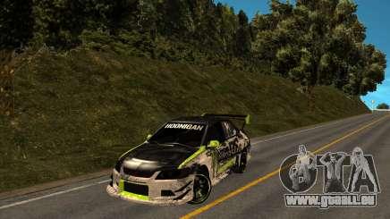 Mitsubishi Lancer Evolution IX Monster Energy DC pour GTA San Andreas