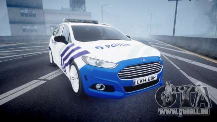 Ford Fusion Estate Belgian Police [ELS] Dog Unit für GTA 4