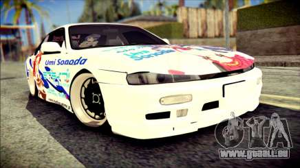 Nissan Silvia S14 Umi Sonoda Paintjob Itasha pour GTA San Andreas