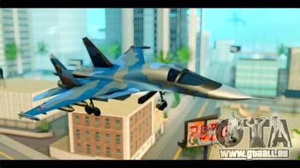 SU-34 Fullback Russian Air Force Camo Blue pour GTA San Andreas