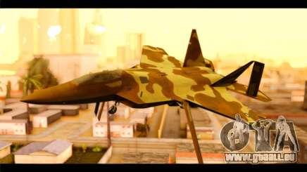 F-22 Raptor Desert Camouflage für GTA San Andreas