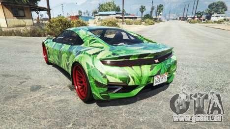 GTA 5 Dinka Jester (Racecar) Cannabis arrière vue latérale gauche