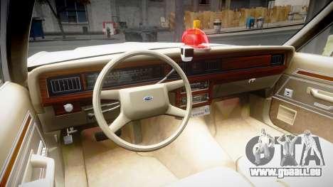 Ford LTD Crown Victoria 1987 Detective [ELS] v2 pour GTA 4 Vue arrière