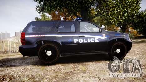 Chevrolet Tahoe SPVQ [ELS] pour GTA 4 est une gauche