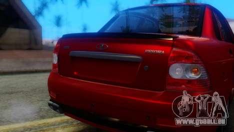 VAZ 2170 AMG pour GTA San Andreas vue arrière