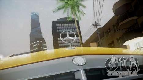 Mercedes-Benz E63 pour GTA San Andreas vue arrière