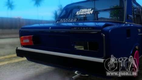 VAZ 2106 BC pour GTA San Andreas vue arrière