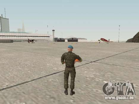 L'airborne soldat de l'Ukraine pour GTA San Andreas troisième écran