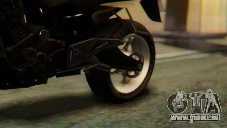 Bajaj Rouser 135 pour GTA San Andreas vue arrière