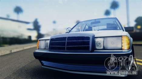 Mercedes-Benz 190E (W201) für GTA San Andreas zurück linke Ansicht