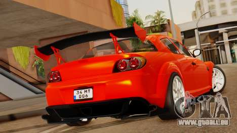 Mazda RX8 Drifter für GTA San Andreas linke Ansicht