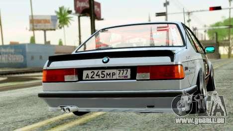 BMW M635CSi E24 1984 pour GTA San Andreas laissé vue