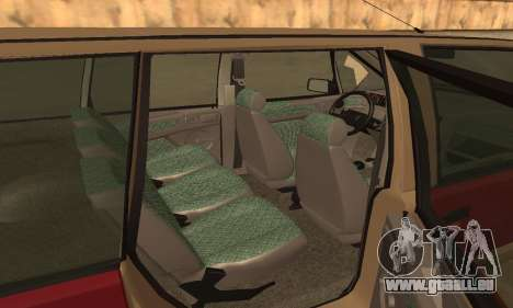 Renault Espace 2000 GTS pour GTA San Andreas vue de dessous