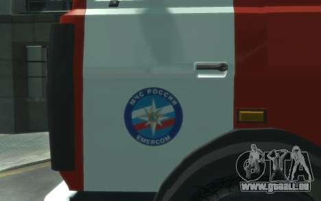 MAZ 533702 de l'EMERCOM de Russie pour GTA 4 est une gauche