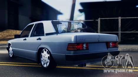 Mercedes-Benz 190E (W201) pour GTA San Andreas laissé vue