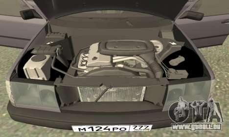 Mercedes-Benz W124 E200 pour GTA San Andreas vue intérieure