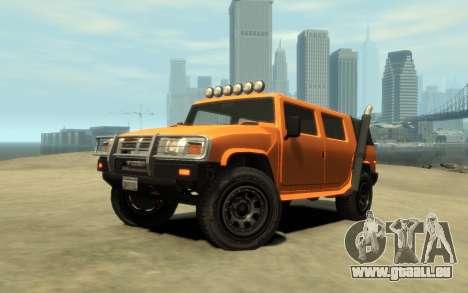 Mammoth Patriot Pickup v2 für GTA 4 Innenansicht