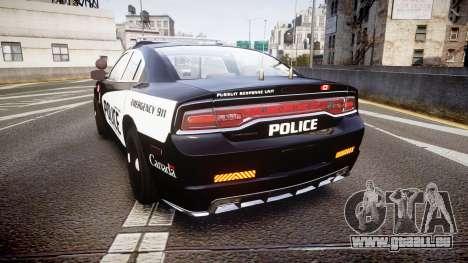 Dodge Charger Alderney Police pour GTA 4 Vue arrière de la gauche