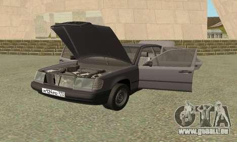 Mercedes-Benz W124 E200 pour GTA San Andreas vue arrière