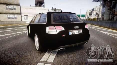 Audi S4 Avant Serbian Police [ELS] pour GTA 4 Vue arrière de la gauche