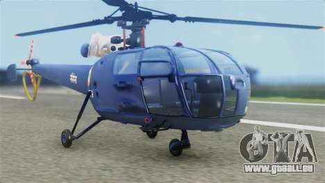 Indian Navy CHETAK Heli Skin pour GTA San Andreas