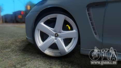 Porsche Panamera Turbo für GTA San Andreas zurück linke Ansicht