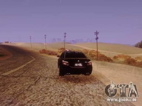 BMW M5 E60 pour GTA San Andreas vue de dessus