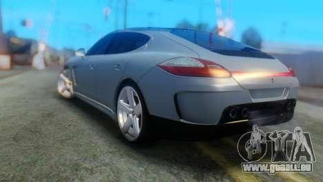 Porsche Panamera Turbo pour GTA San Andreas laissé vue