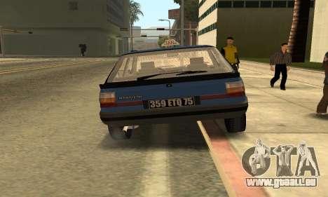 Renault 11 TXE Taxi pour GTA San Andreas vue arrière
