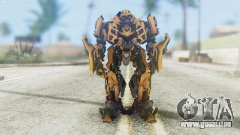 Bumblebee Skin from Transformers v2 pour GTA San Andreas deuxième écran