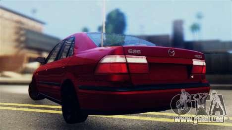 Mazda 626 pour GTA San Andreas laissé vue