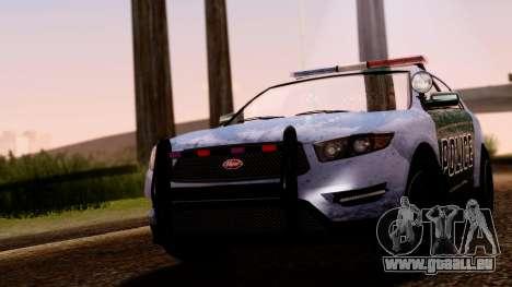 GTA 5 Vapid Police Interceptor v2 SA Style pour GTA San Andreas vue de droite