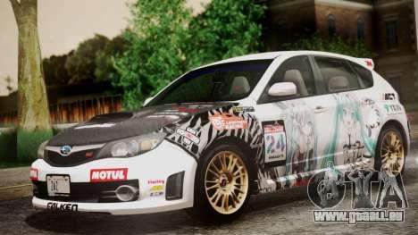 Subaru Impreza WRX STI 2008 PJ für GTA San Andreas Innenansicht
