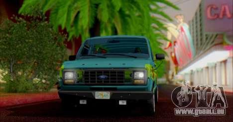 Ford E-150 Scooby Doo pour GTA San Andreas laissé vue